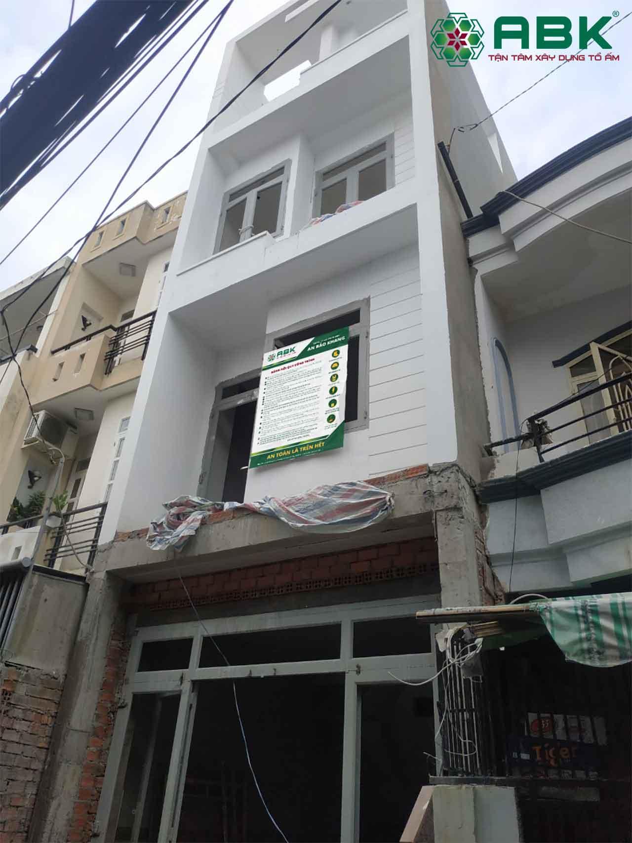 Xây nhà phố Anh Thiện - Gò Vấp