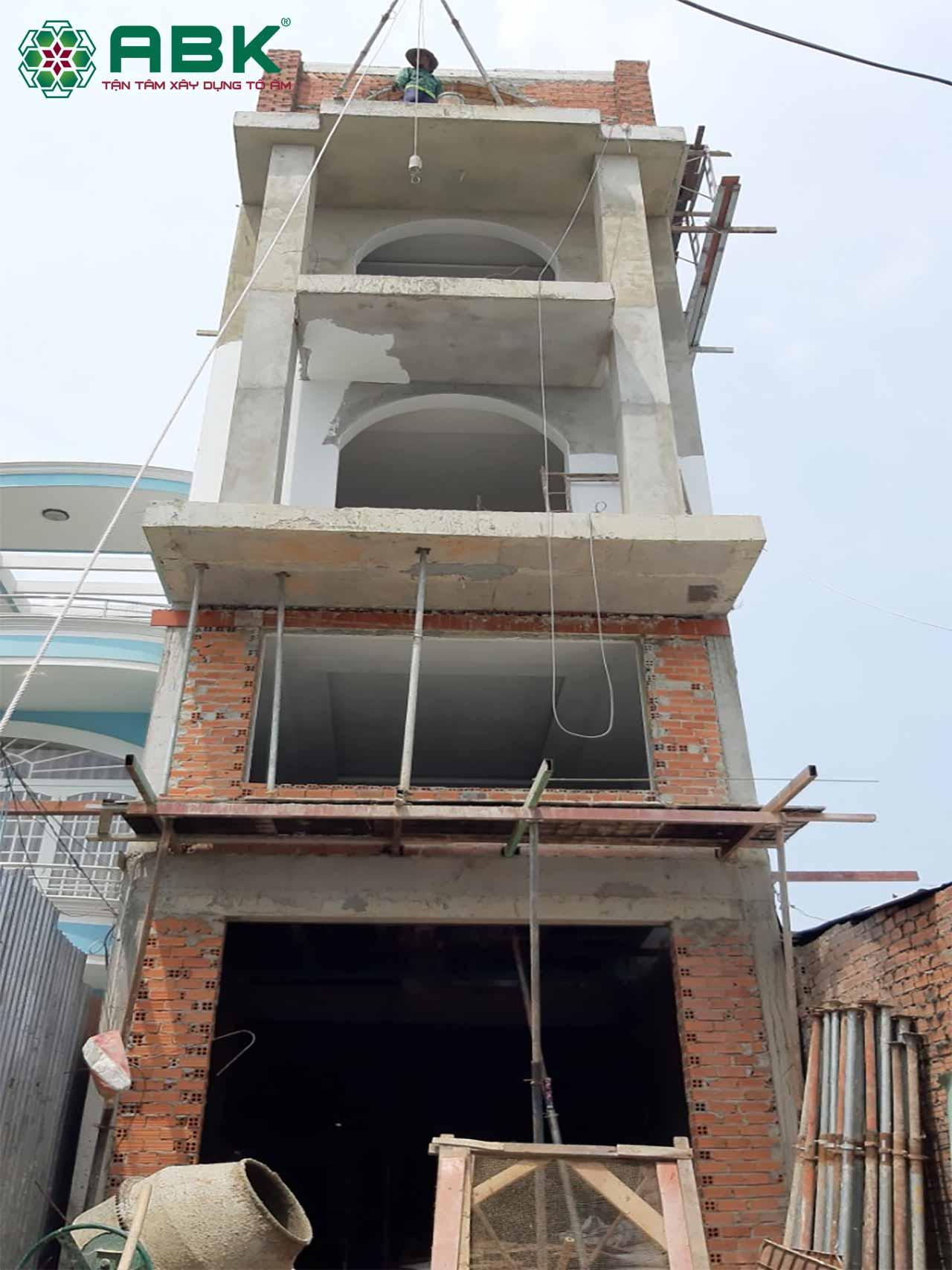 xây nhà trọn gói anh Tuấn quận 12