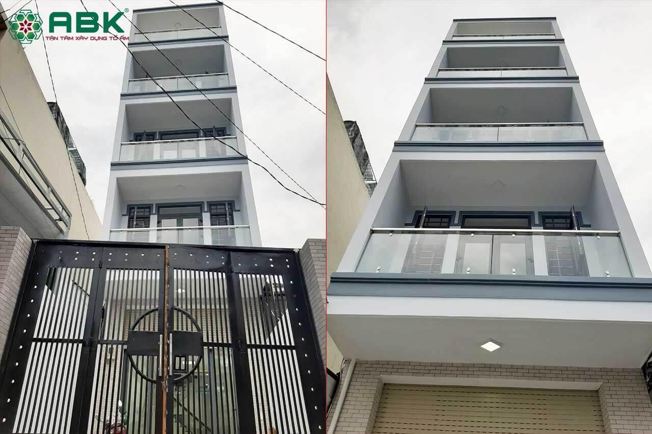 Xây nhà trọn gói Chị Thủy Tân Phú