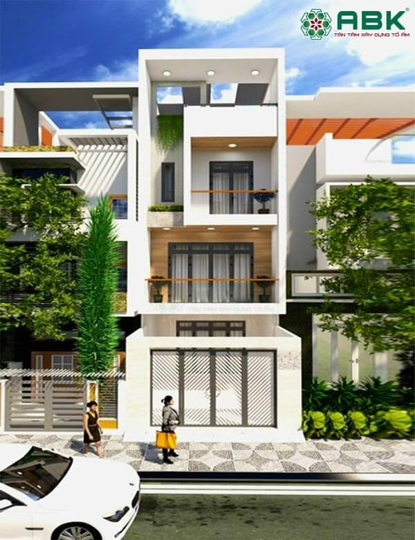 Mẫu thiết kế nhà phố 4 tầng hiện đại MS4