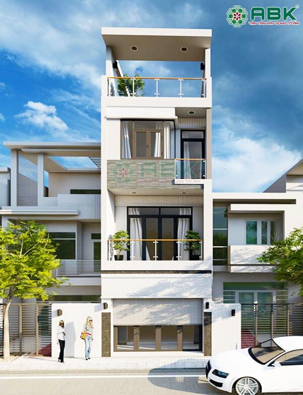 Mẫu thiết kế nhà phố 4 tầng MS5