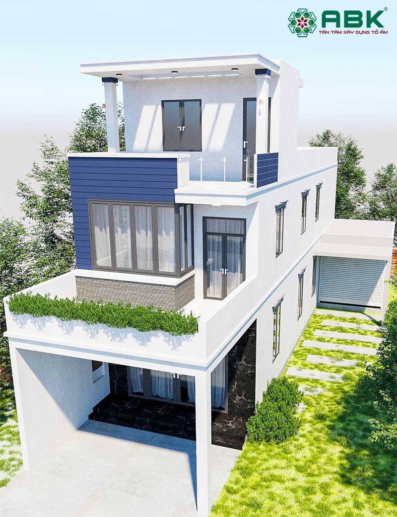Mẫu thiết kế nhà phố 3 tầng MS03