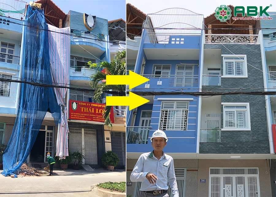 Thi công sửa chữa nhà trọn gói anh Hưng quận 8