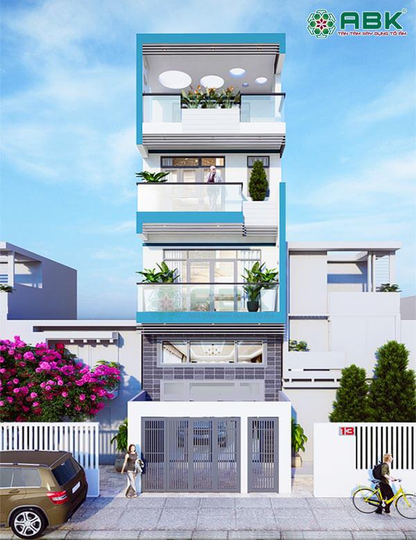 Mẫu thiết kế nhà phố 4 tầng MS26