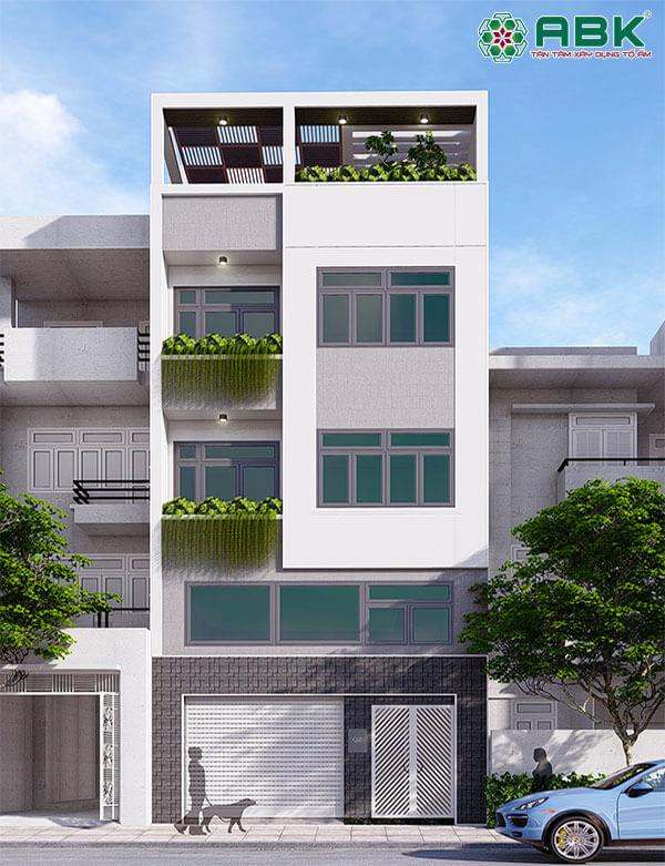 Mẫu thiết kế nhà phố 5 tầng ms29