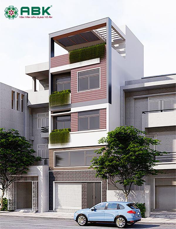 Mẫu thiết kế nhà phố 5 tầng MS28