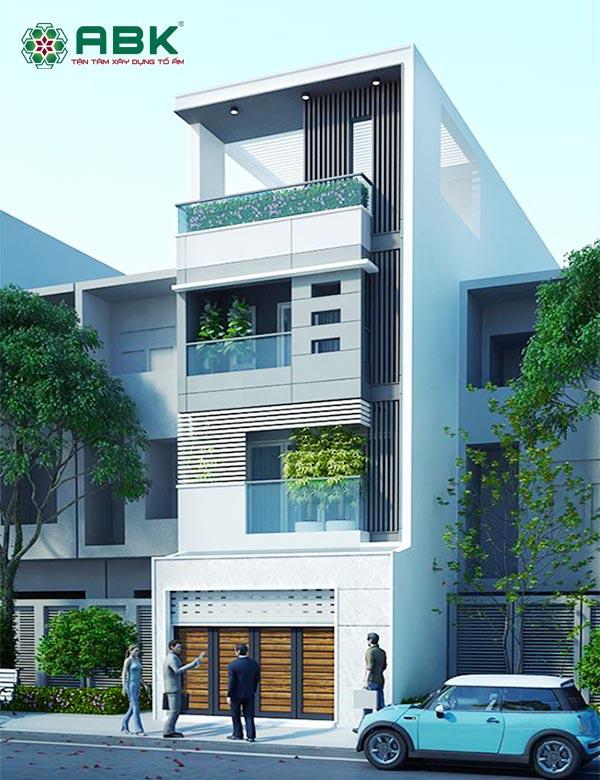 Mẫu thiết kế nhà phố 4 tầng MS35