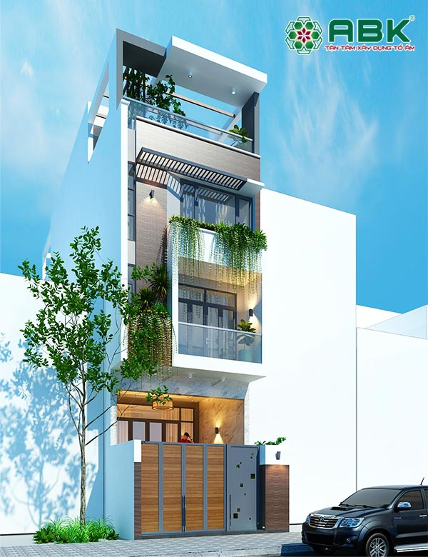 Mẫu thiết kế nhà phố 4 tầng 4x12m – MS33