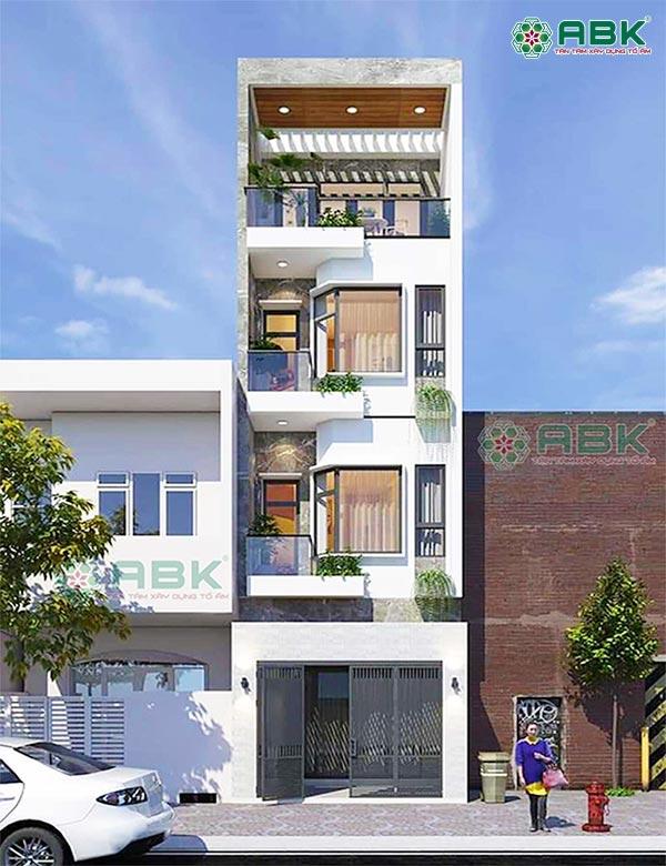 Mẫu thiết kế nhà phố 4 tầng 4x16m – MS36