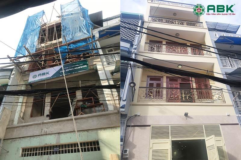 Sửa nhà nâng tầng anh Tiến quận Tân Bình