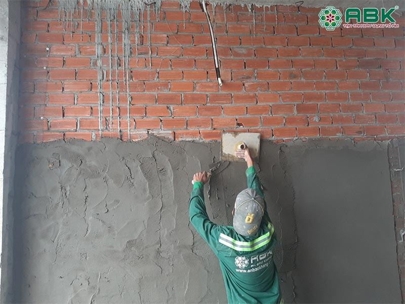 Công tác trát tường nhà