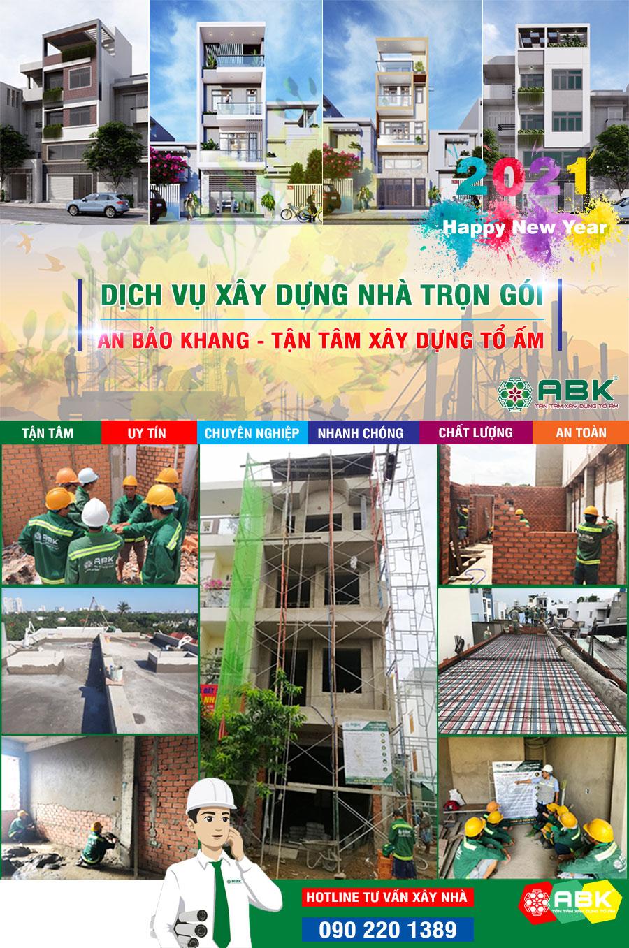 Giá xây nhà trọn gói 2021 – Xây nhà uy tín An Bảo Khang
