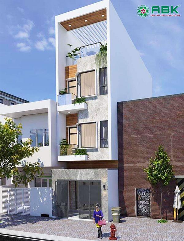 Mẫu thiết kế nhà phố 4 tầng – MS38