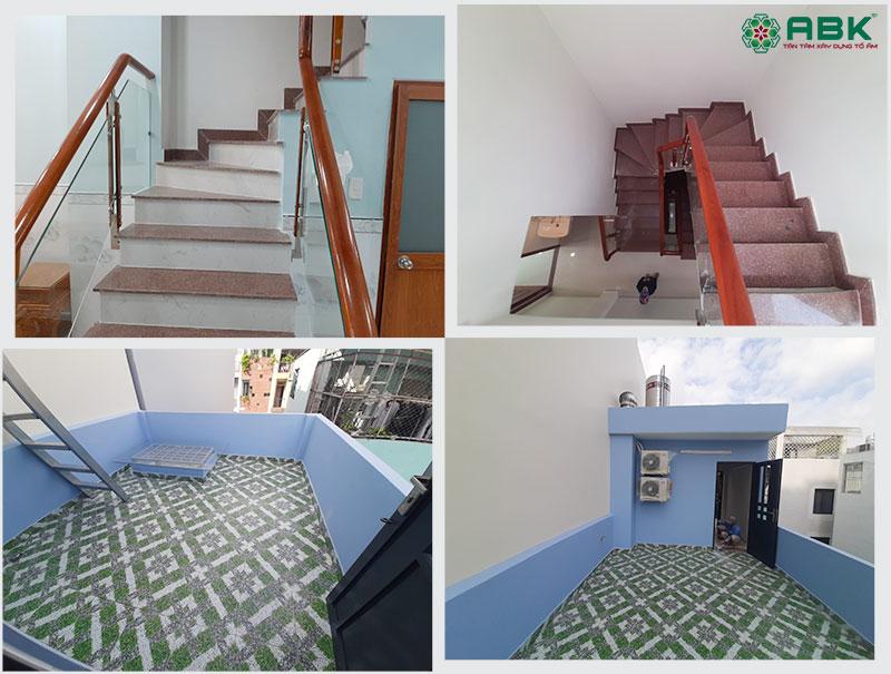 Cầu thang và không gian sân thượng