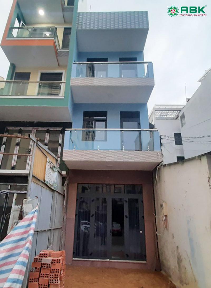 Xây nhà phố 4 tầng phường 3 quận Gò Vấp