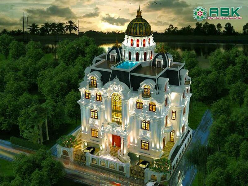 Mẫu thiết kế nhà biệt thự 5 tầng cổ điển – MS01
