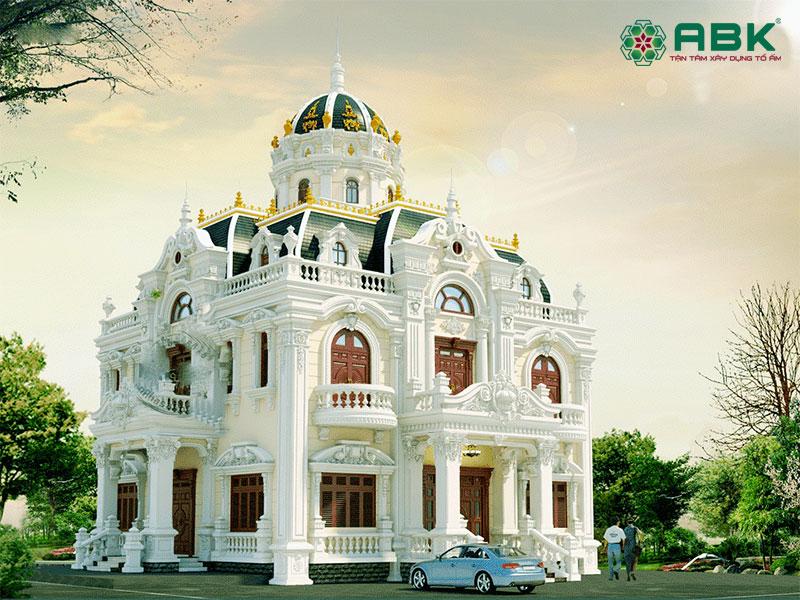 Mẫu nhà biệt thự 4 tầng kiến trúc cổ điển – MS01