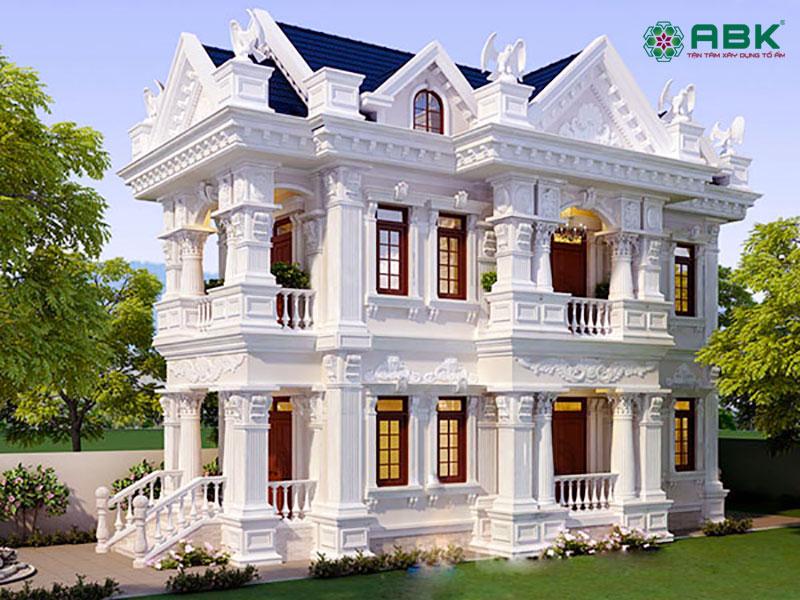 Mẫu biệt thự 2 tầng cổ điển – MS02