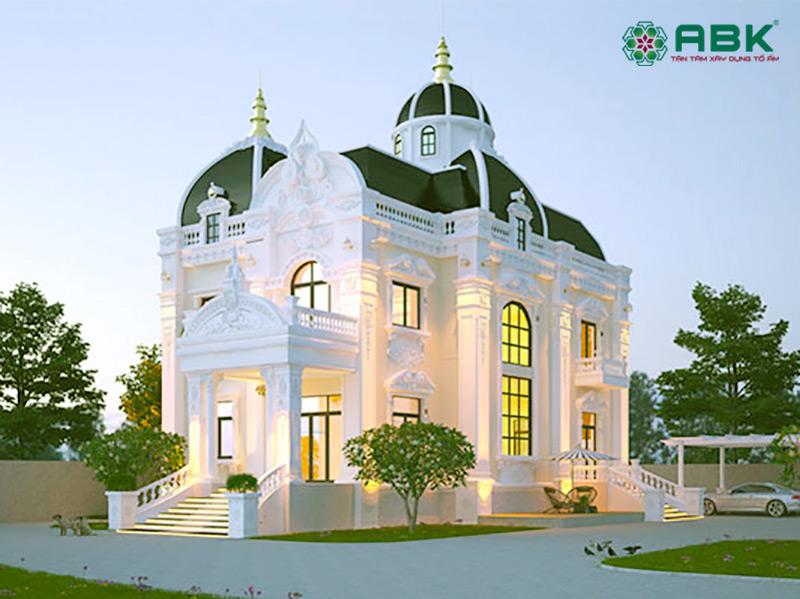 Mẫu thiết kế nhà biệt thự cổ điển 2 tầng – MS02