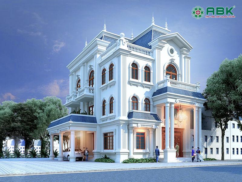 Mẫu thiết kế nhà biệt thự 3 tầng cổ điển- MS01