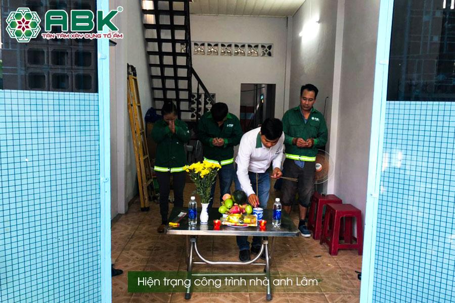 Hiện trạng công trình nhà anh Lâm Quận Bình Tân