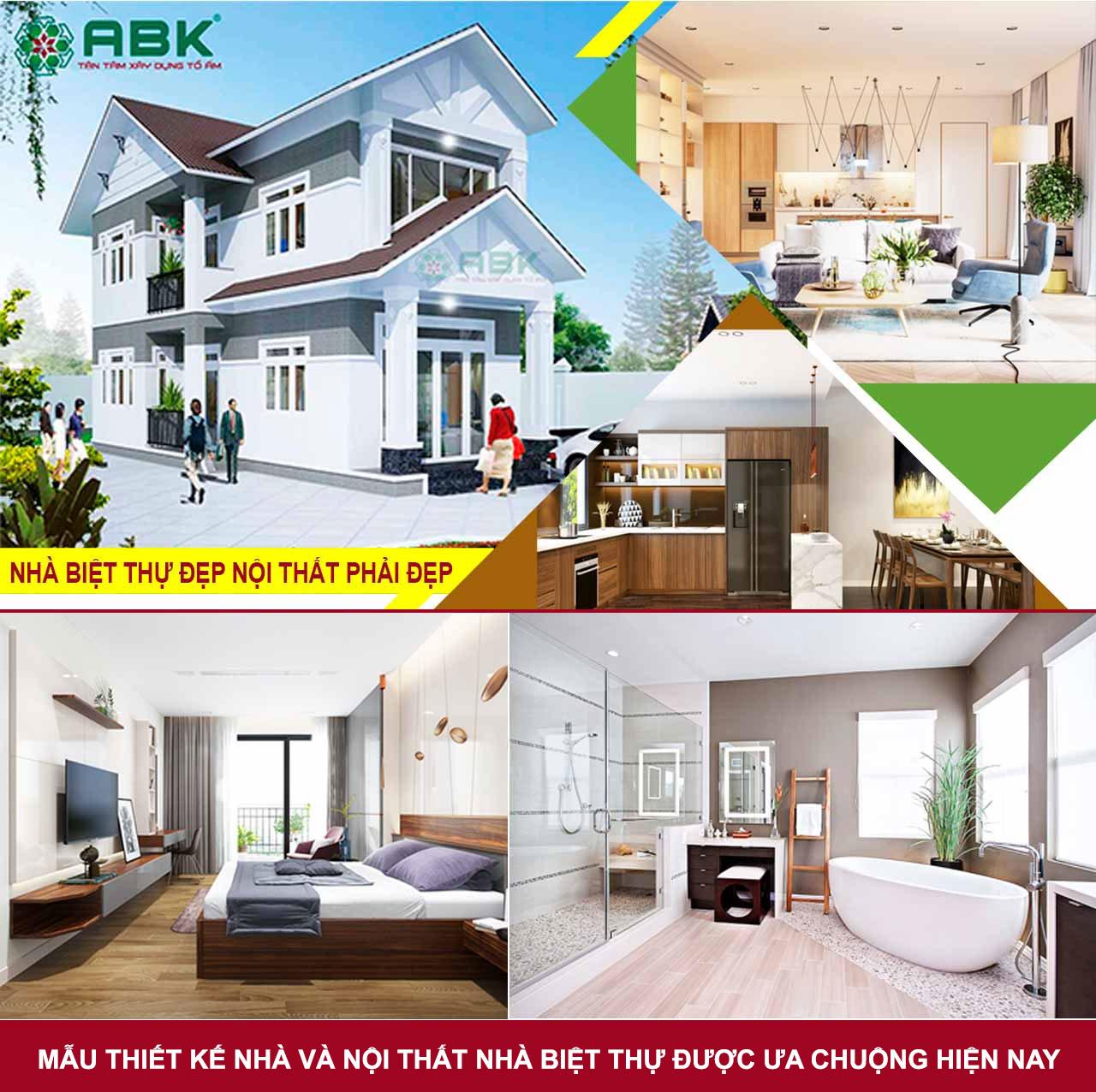 Mẫu thiết kế và nội thất nhà biệt thử hiện đại sang trọng
