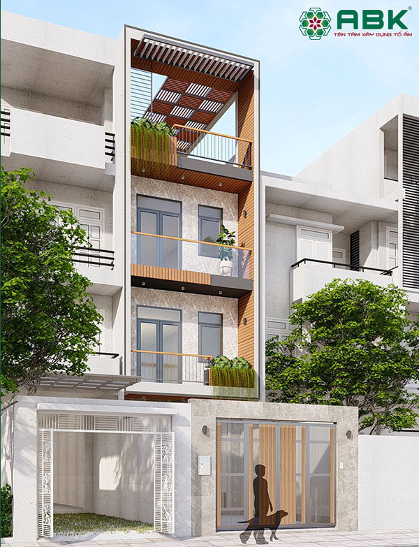 Mẫu thiết kế nhà phố 4 tầng – MS39
