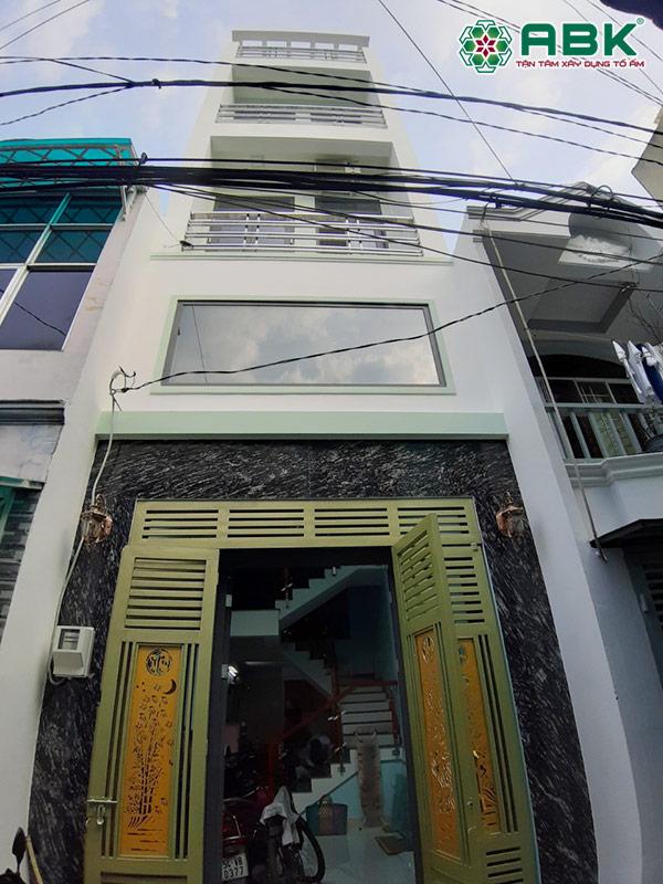 Xây dựng nhà phố 3 tầng + lửng và sân thượng tại Gò Vấp