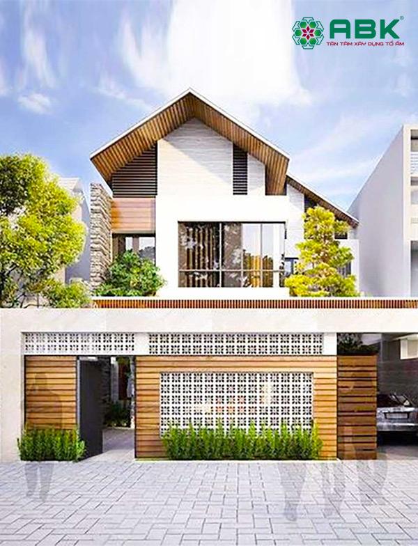 Mẫu thiết kế nhà phố 2 tầng mái thái – MS09
