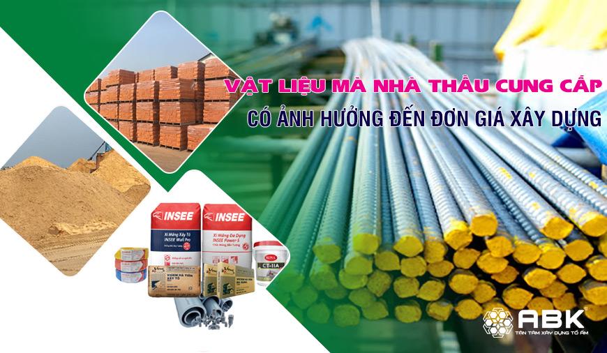 Vật liệu thô An Bảo Khang sử dụng khi xây nhà tại Quận 1