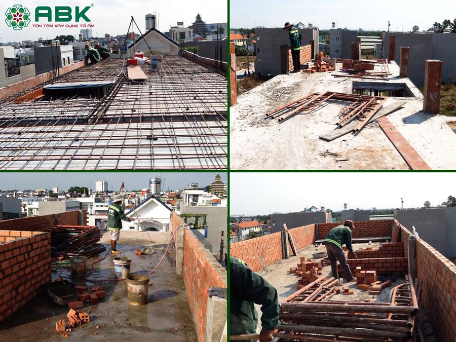 Thi công xây tum sân thượng nhà chị Dung Quận Thủ Đức