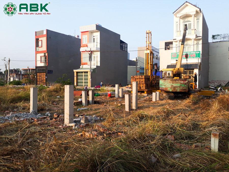 Hiện trạng công trình nhà chị Dung ở Quận Thủ Đức