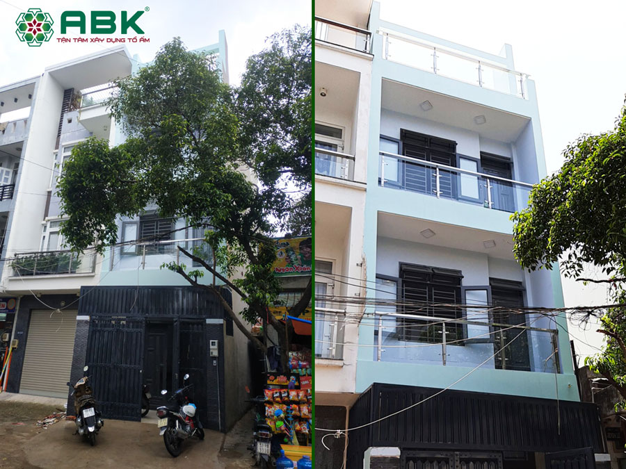 Hình ảnh hoàn thiện nhà anh Dũng ở Quận Tân Phú