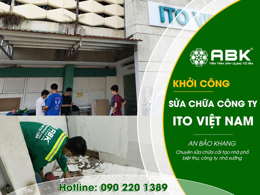 Khởi công sửa chữa Công ty TNHH ITO Việt Nam ở Quận Bình Thạnh