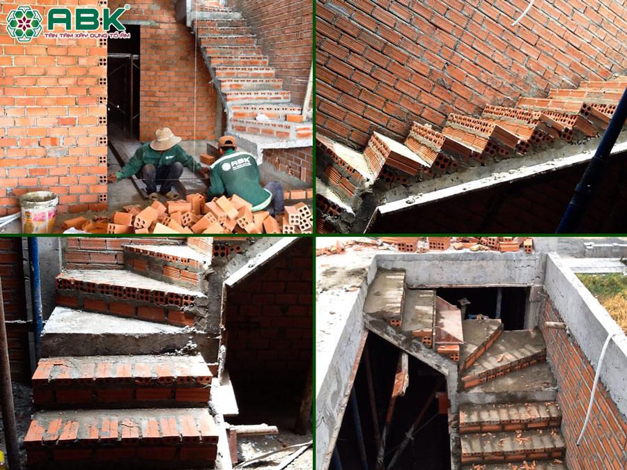 Thi công xây cầu thang nhà chị Dung Quận Thủ Đức