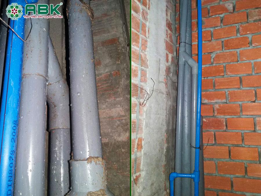 Thi công hệ thống điện nước nhà anh Dũng Quận Tân Phú