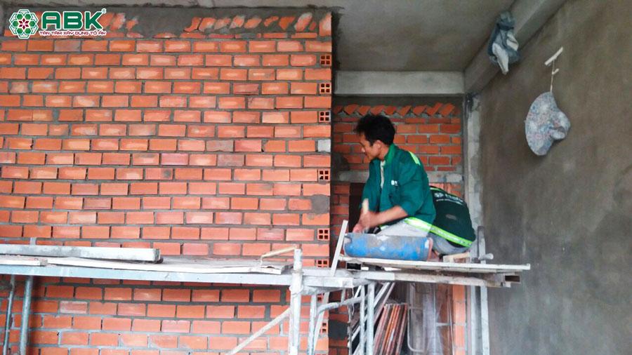 Thi công xây tô tường nhà anh Dũng Quận Tân Phú