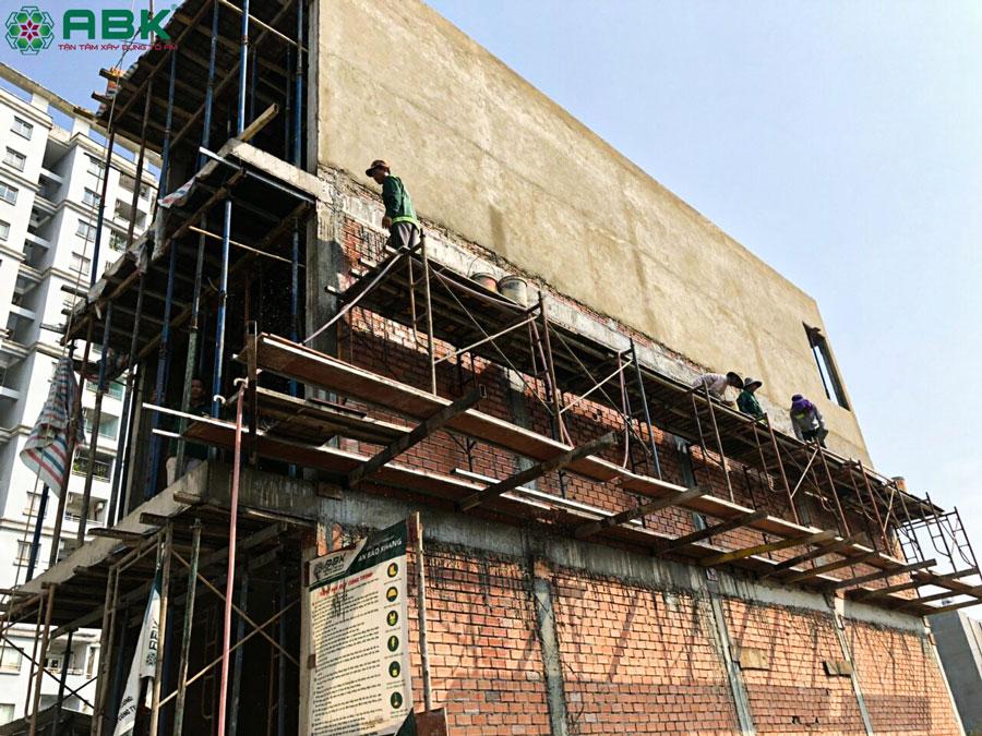 Thi công xây dựng nhà 1 trệt 2 lầu có tum – Nhà chị Dung Quận Thủ Đức
