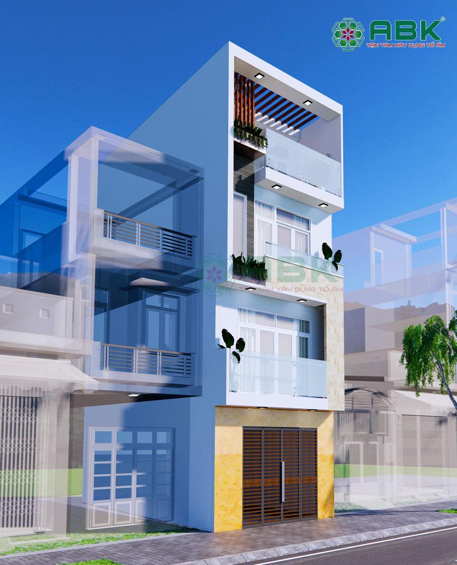 Mẫu nhà phố 3 tầng sân thượng đẹp 50m2 Quận Bình Tân