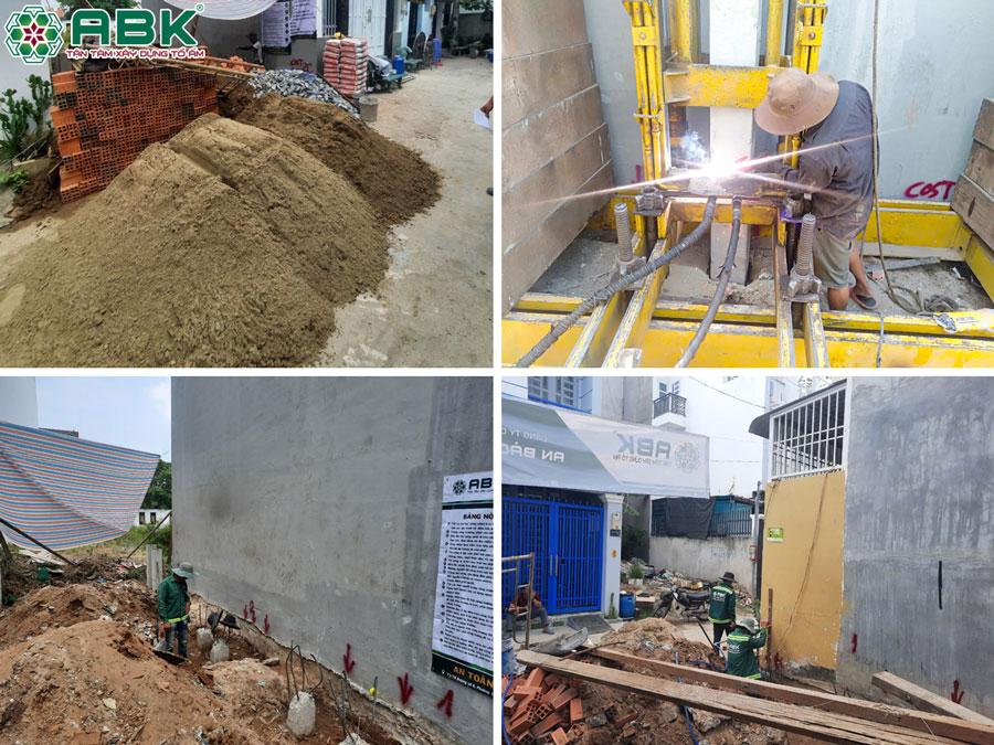 Khởi công xây nhà 1 trệt 2 lầu ở Huyện Nhà Bè