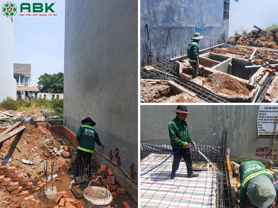 Khởi công xây nhà anh Tường ở Huyện Nhà Bè