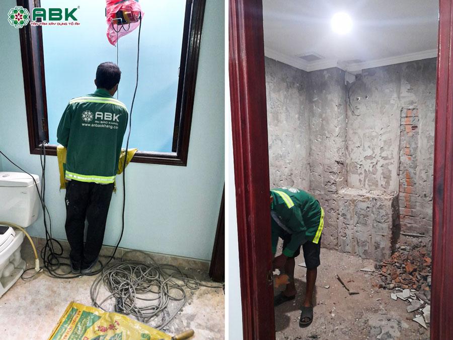 Thi công sửa nhà 4 tầng anh Tiến ở Quận Tân Bình
