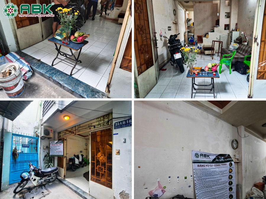 Hiện trạng công trình nhà anh thịnh ở Quận Tân Bình