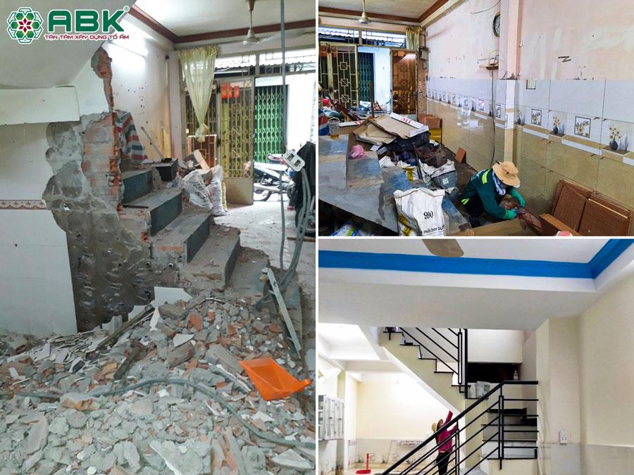 Thi công sửa nhà anh Thịnh ở Quận Tân Bình
