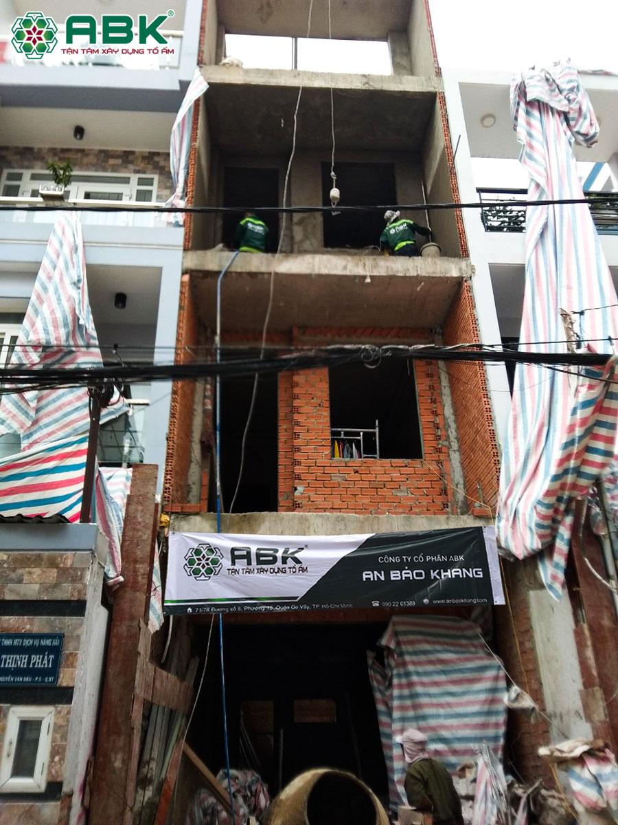 Thi công xây tô nhà anh Hùng Quận Bình Thạnh