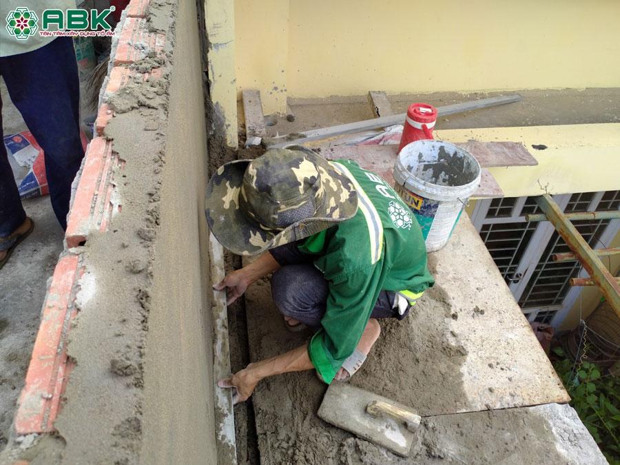 Thi công xây tầng thượng nhà anh Lộc