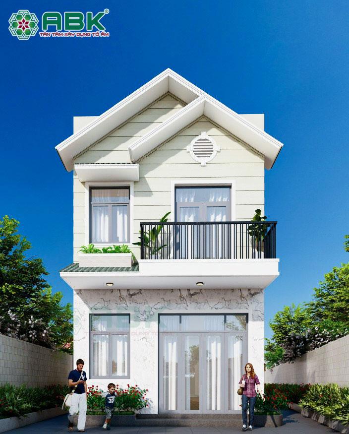 Mẫu thiết kế nhà phố 2 tầng giá rẻ cho vợ chồng trẻ