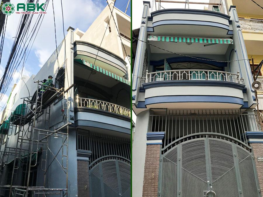 Sửa chữa nhà 1 trệt 1 lầu nhà chị Mai ở Quận Tân Bình