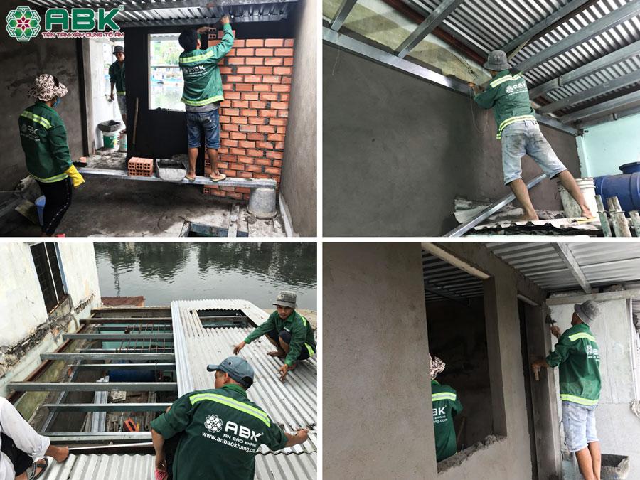 Thi công sửa nhà chị Châu ở Quận 8