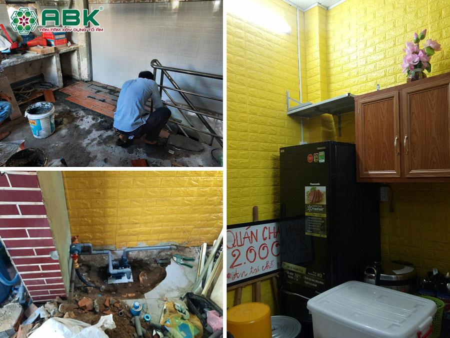 Thi công sửa chữa nhà anh Nhân ở Quận 11